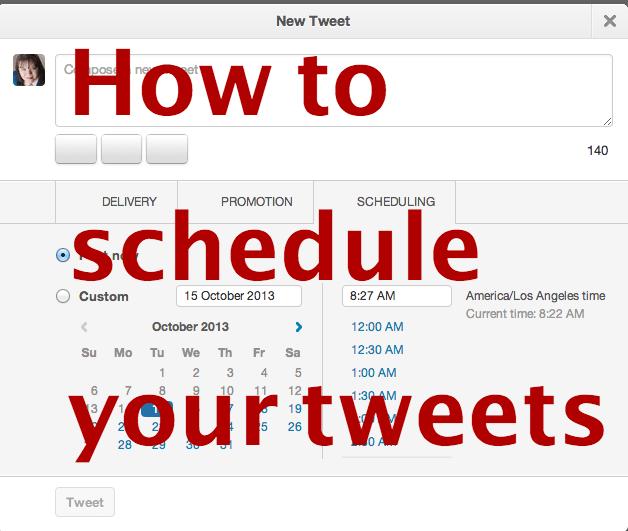 How to Schedule Your Twitter Status Update