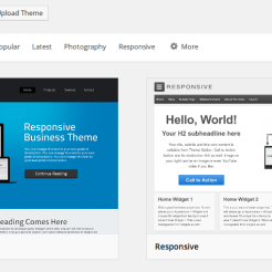 WordPress 3.9 add themes