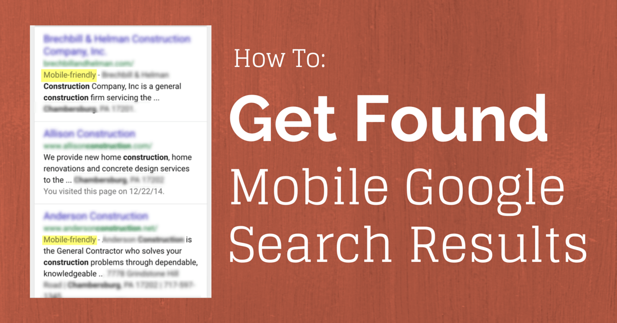How to Get Found in Mobile Google Search Results