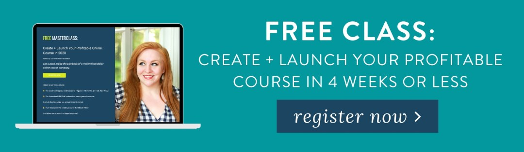 """Take my free class """"The 6-Step System to a Profitable Online Course"""""""