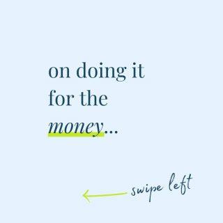 On doing it for the money: Swipe left 👈 . . . . . . #money #entrepreneurship #financialfreedom #entrepreneurmindset #goaldigger #creativeeconomy #savvybusinessowners #sayyestosuccess