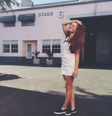 Overalls: Brandy Melville, Shoes: Lacoste