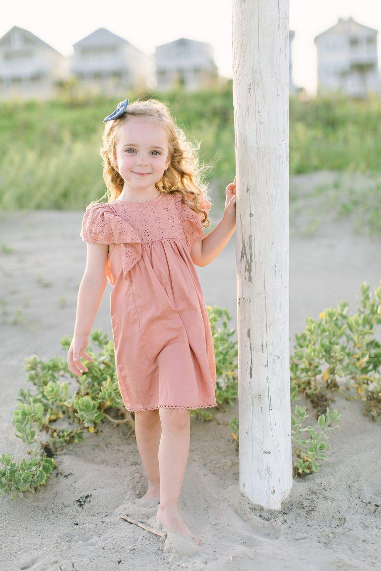 Children's photos on the beach in Galveston, Texas. Photos by Courtney Griffin Photography.