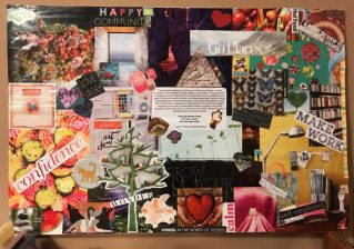 a collaged vision board