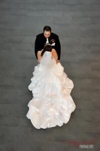 Ashlee & Matt - Stairs - Regina Wedding Photography