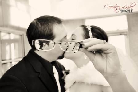 Ashlee & Matt - Through glasses - Regina Wedding Photography