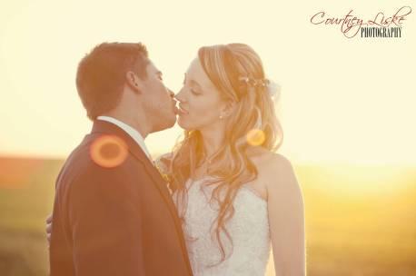 Regina Wedding Photographer - Pam & Grant - Sunset Kiss
