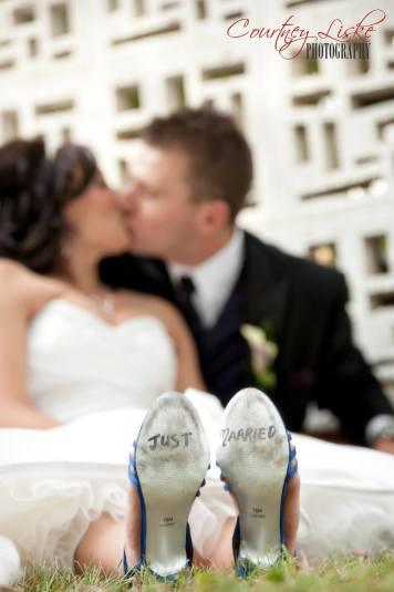 Regina Wedding Photographer - Matt & Cherise Burns - Just Married Shoes