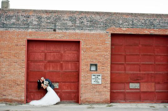 Regina Wedding Photographer - Andrew & Alicia - Red Door Kiss