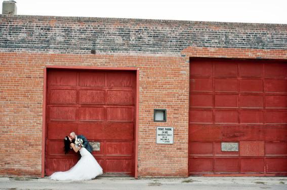 Regina Wedding Photographer - Andrew & Alicia - Red Door Kiss