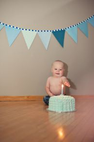Regina Family Photographer - Astrope Family - 1 Year Birthday - Cake Smash Candle