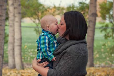 Regina Family Photographer - Astrope Family - Open Mouth Kiss
