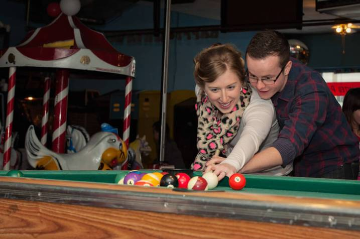 Regina Engagement Photographer - Brian & Jacey - Billiards
