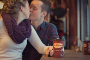 Regina Engagement Photographer - Brian & Jacey - Tim Hortons