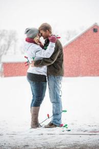 Regina Engagement Photographer - Stephen & Sara - Christmas Lights
