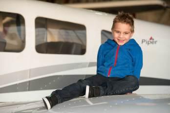 Ty at the Regina Flying Club - Top Gun Favel Family 2015