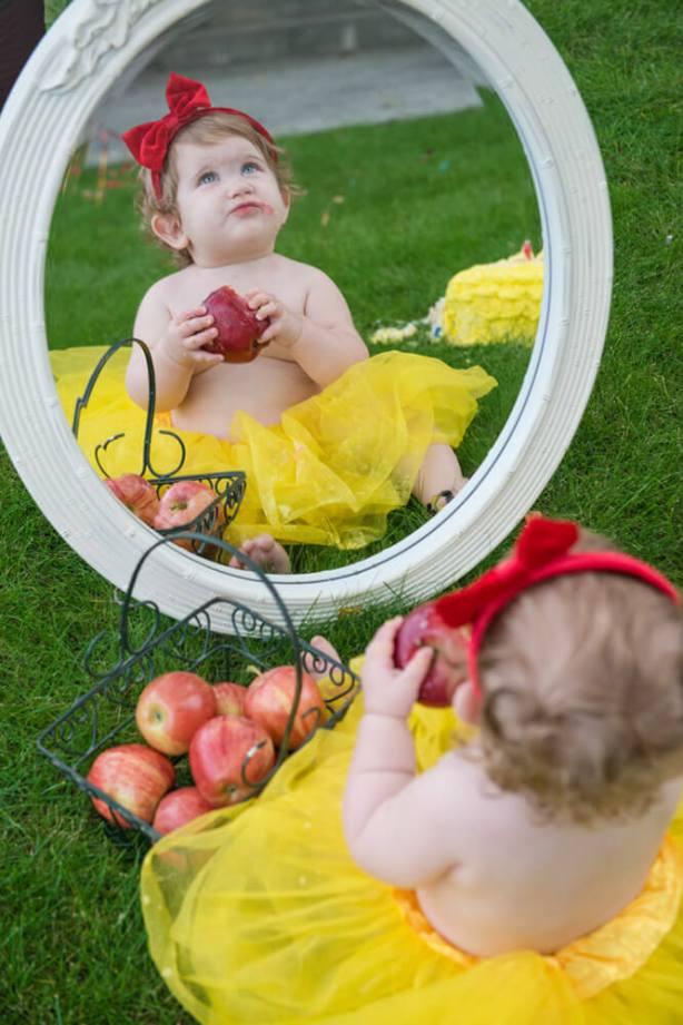 Evelyn is one - Downtown Regina Cake Smash- Mirror Mirror