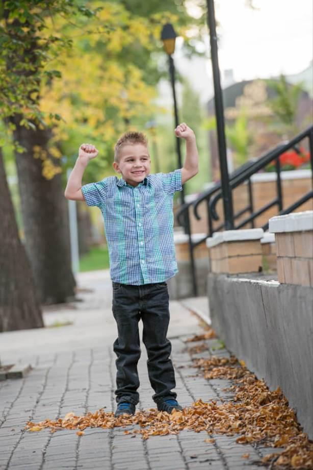 Boy jumping - Favel Family Photos 2016