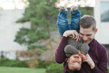 Courtney Liske Photography - Regina Family Photographer - Jaarsma Family - CBC Regina - Bat Hangs