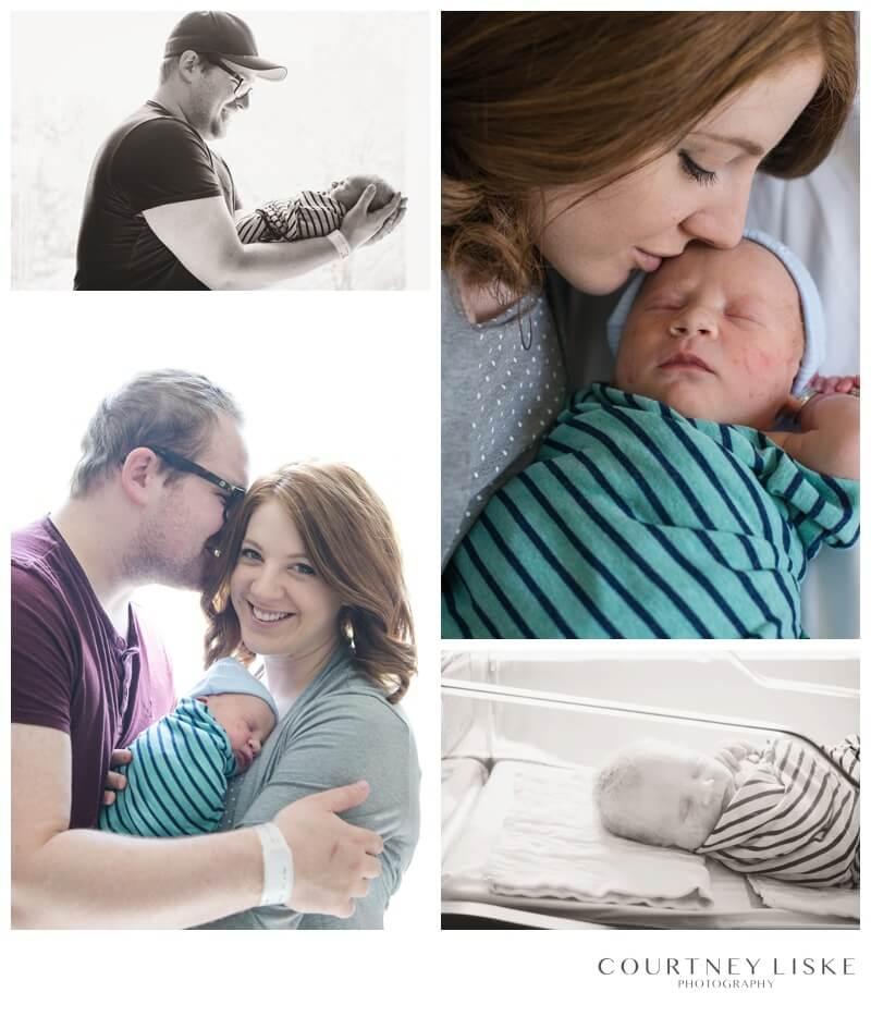Oliver Newborn - Courtney Liske Photography - Regina Family Photographer - Regina General Hospital newborn session