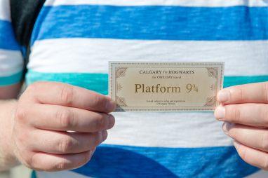 Calgary to Hogwarts from Platform 9 and 3 quarters