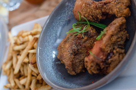 Gluten free buttermilk fried chicken at the Blue Star Diner