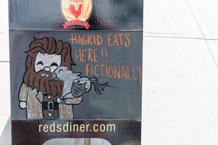 Hagrid eats at Reds Diner Kensington fictionally