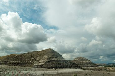Landscape in the badlands of Drumheller Alberta