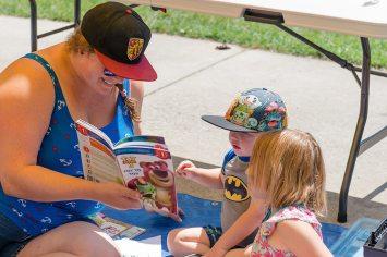 Reading in Riley Park