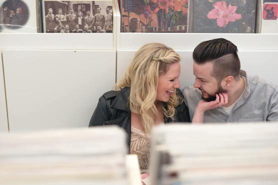 Regina Engagement Portfolio - Trevor-Caitie - Record Store