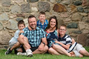 Family with farm storehouse near Indian Head