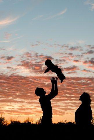 Regina Family Photographer - Jaarsma Family - Silhouette Toss
