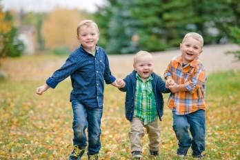 Regina Family Photographer - Neufeld Boys running