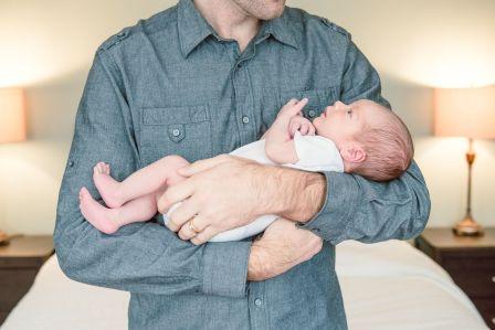 Regina Newborn Photographer - Connor with Dad