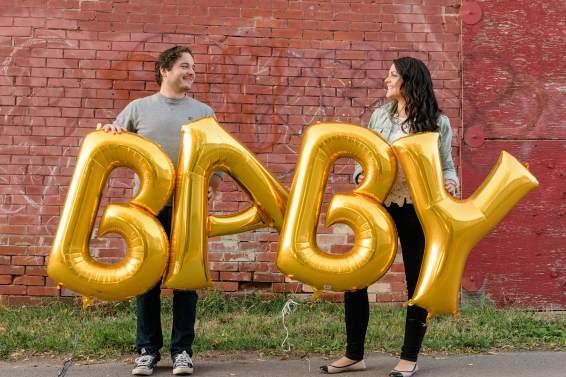 Baby announcement in the alley Regina