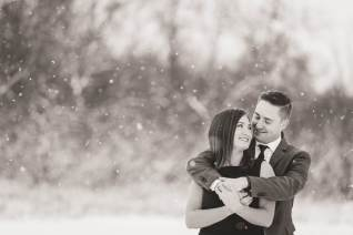 Winter engagement session in Lumsden Valley with Courtney Liske Photography
