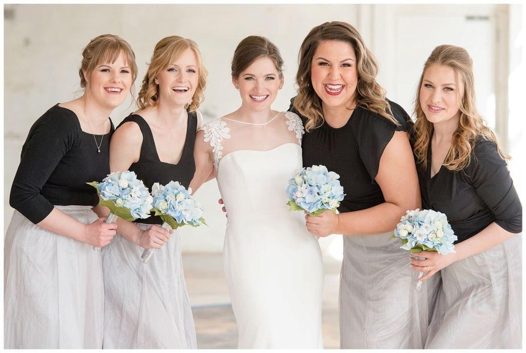 Mark & Kyra - Wedding - 16 - Bride with Bridesmaids