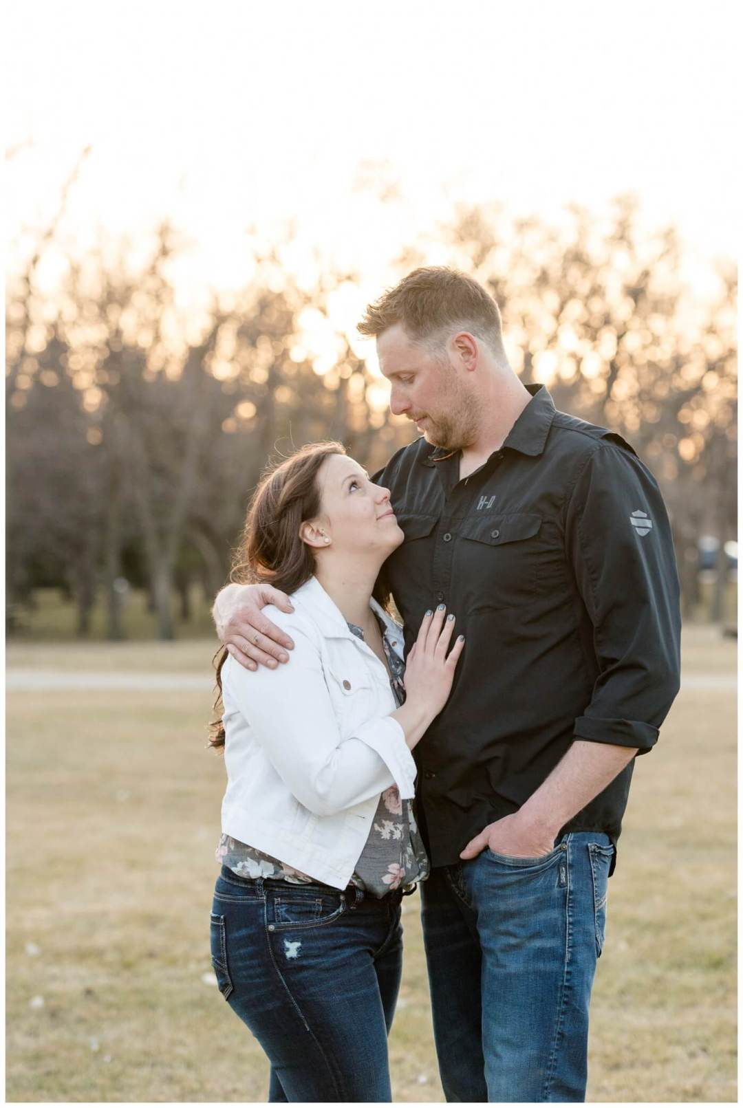 Travis & Coralynn Regina Engagement Session- Wascana Park engagement session at sunset