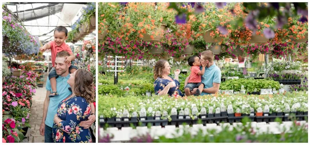 Regina Maternity Photographer - Justin-Charissa-Jonah - Flowers- Regina Dutch Growers