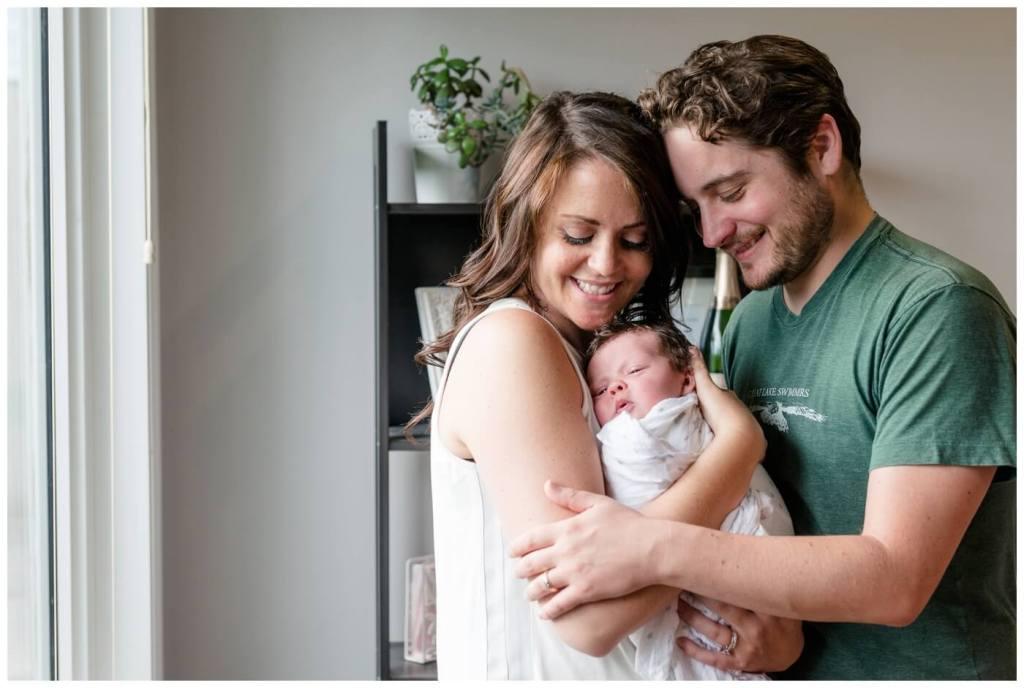Regina Natural Light Photographer - Popescu Family-Heidi-Heather-Joel - In-home newborn session