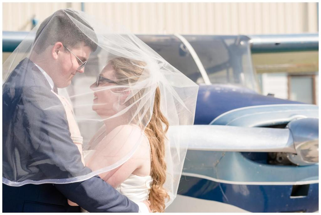 Regina Wedding Photographer - Luke-Tori- Regina Flying Club - Veil