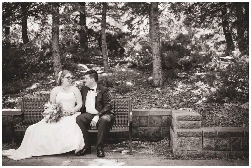 Regina Wedding Photographers - Luke-Tori - Park Bench in Kiwanis Park