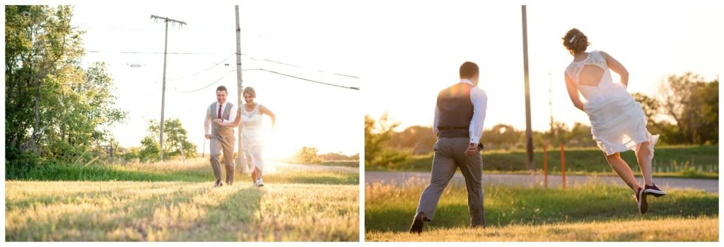 Regina Wedding Photographer - Andrew-Stephanie - End of the day heel click