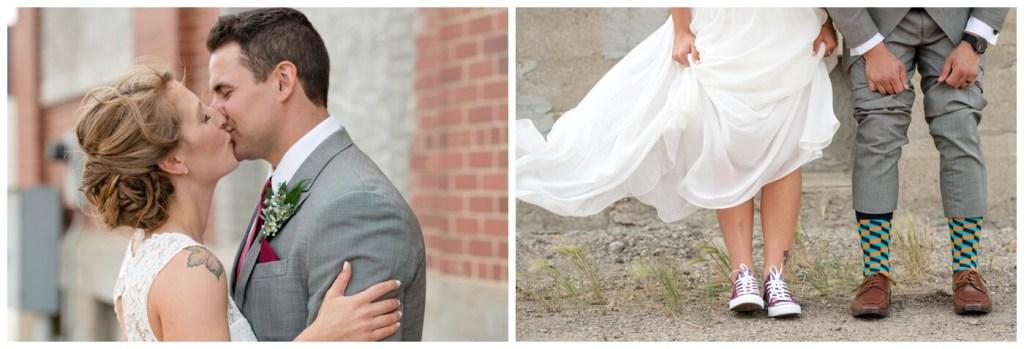 Regina Wedding Photography - Andrew-Stephanie - Converse Shoes
