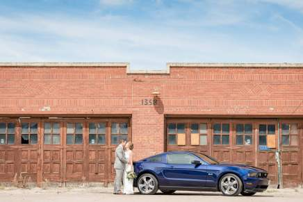 Andrew & Stephanie - 2011 Blue Mustang - Regina Warehouse District