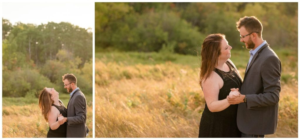 Regina Wedding Photography - Allie-Nathan - Golden Hour - Engagement Session