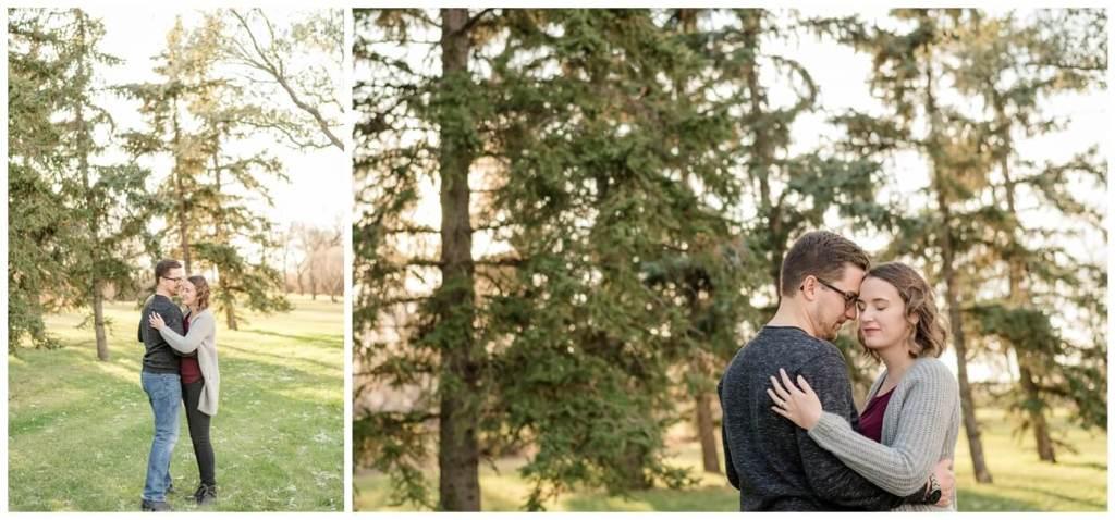 Regina Family Photographer - Teala-Jarrett - Fall Family Session - Les Sherman Park - Dancing - Evergreen Trees