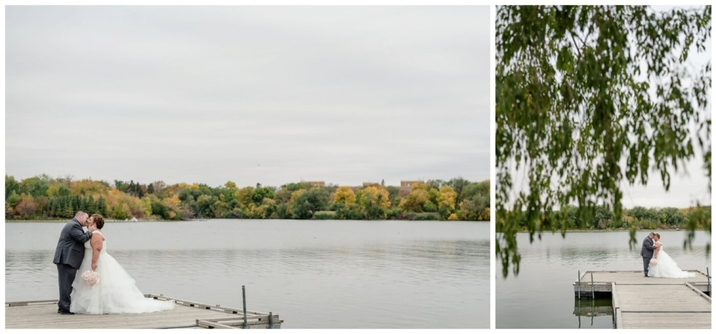 Regina Wedding Photographers - Scott-Ashley - Fall Wedding - Regina Rowing Club - Dock - Wascana Park