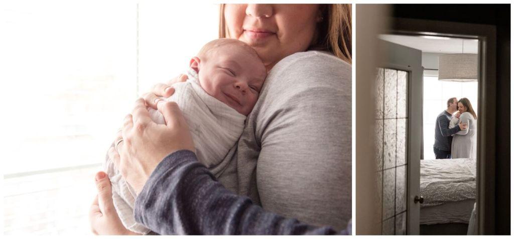 Regina Family Photographer - Jensen Newborn - Keltie-Josh - In home Family Session - Lifestyle Newborn