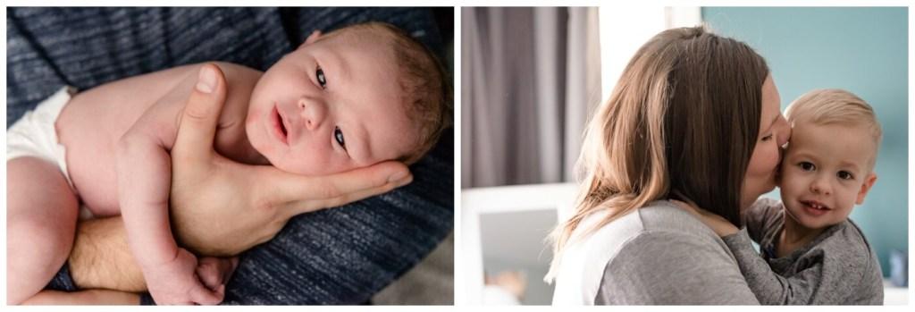 Regina Family Photography - Jensen Newborn - Keltie-Kayden - In home Family Session